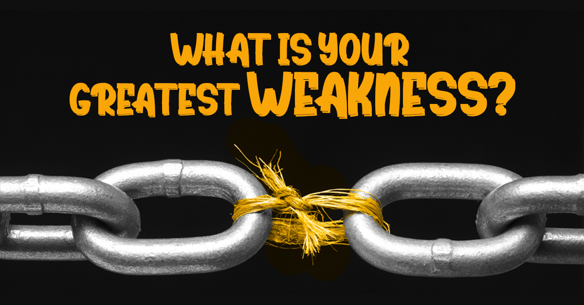 What is your weakness quiz